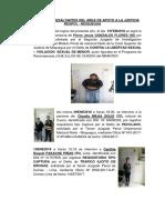 Capturas Mas Resaltantes Del Area de Apoyo a La Justicia Regpol