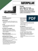 Grupos Electronicos Diesel Cat c15 410ekw Prime Lowbsfc