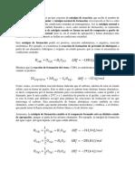 La Entalpía de Formación Es Un Tipo Concreto de Entalpía de Reacción