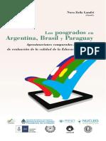 LIVRO Los Posgrados en Argentina, Brasil y Paraguay Los