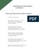 Poemas Imperdíveis Do Poeta Gótico Lord Byron