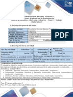 Quimica Organica Evaluación - Paso 3 -Trabajo Colaborativo 2