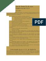 La Constitución de Santa Fe de 1921