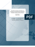 The Development Interest in Reform of the European Union's Common Agricultural Policy
