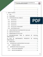 3er Informe Saneamiento - Valvulas
