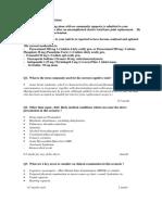 Afrm Fellowship Written Examination Sample Meqs