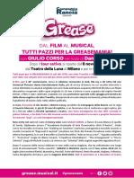 Grease Comunicato Maggio2018