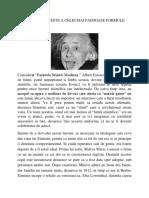 Gabriela Dobrescu-Einstein a Furat Faimoasa Formula de La Un Italian