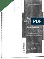 Finanzas - Atchabahian, Adolfo. Régimen Jurídico de La Gestión y Control en La Hacienda Pública. Capítulo VI.