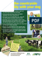nfu poster 1 enjoy the countryuside with your dog