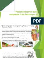 Procedimiento Manipulacion de Alimentos Act. 2