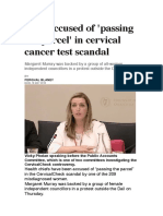 HSE Accused of 'Passing the Parcel' in Cervical Cancer Test Scandal