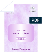 1. Livro de Partituras - Missas Do Advento e Natal - Ano A