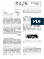 December 2009 Pisgah Post Newsletter, Pisgah Presbyterian Church