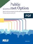 Aclu Municipal Broadband Report