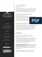 Resume Minimal- One Page