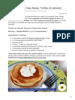 Desayuno Dukan Fase Ataque Tortitas Sinsalvados