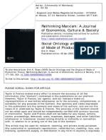 OLSEN, Erik. Social Ontology and the Origins of Mode of Production.pdf