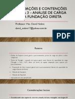 Fundações e Contenções - Aula 3 - Ppt
