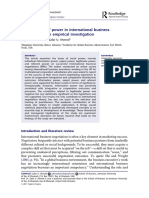 The Concepts of Power in International Business Negotiations an Empirical Investigation