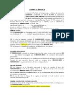 Contrato de Franquicia - Chino Terrones