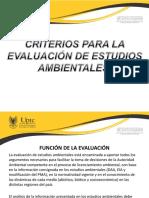 Criterios Para La Evaluación de Estudios Ambientales