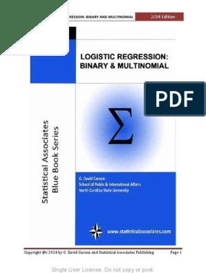 G  David Garson-Logistic Regression_ Binary and Multinomial