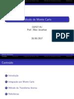 f) Método de Monte Carlo