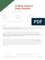 Basis Peak Sleep Analysis