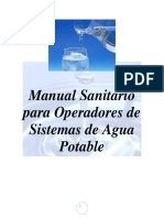 Manual Sanitario Para Operadores de Sistemas de Agua Potable