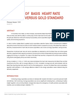 VALIDATION OF BASIS HEART RATE DETECTION VERSUS GOLD STANDARD