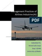 Management Practices of Aviation Industry
