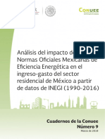 cuadernoNo9 de la Conuee Análisis del impacto de las Normas Oficiales Mexicanas de Eficiencia Energética en el ingreso-gasto del sector residencial de México a partir de datos de INEGI (1990-2016).pdf