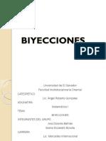 Presentación de Matemáticas -  Biyección