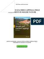 Gossans and Leached Cappings Field Assessment by Roger Taylor