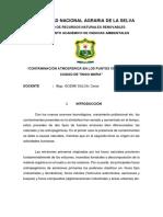 """CONTAMINACIÓN ATMOSFERICA EN LOS PUNTOS CRITICOS DE LA CIUDAD DE TINGO MARIA"""""""