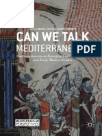 Can We Talk Mediterranean Conversations on an Emerging Field in Medieval and Early Modern Studies