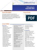 AutoCAD 2015 Course Outline