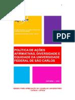 Politica Saade Ufscar Consuni Out 2016