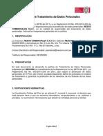 POLITICAS - Política de Tratamiento de Datos Personales - NEXOS COMERCIALES