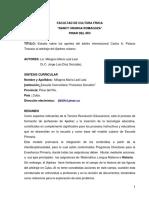 Estudio sobre los aportes del árbitro internacional Carlos A. Palacio Toscazo al arbitraje del Ajedrez cubano
