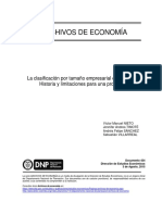 La clasificación por tamaño empresarial en Colombia