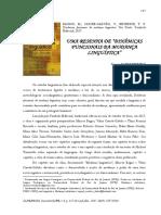 """CASTANHEIRA, Dennis; BRITO, Raquel.  """"Uma resenha de 'Dinâmicas Funcionais da mudança linguística'"""" - BAGNO, Marcos et al."""