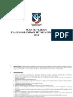 Plan de Trabajo Evaluador 2017-2018