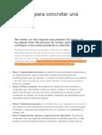 6 Pasos Para Concretar Una Venta Exitosa.