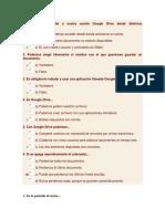 Evaluaciones de Google Drive o Docs