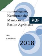 Buku Kelembagaan, Kemitraan Dan Manajemen Resiko Agribisnis