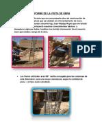 Informe de La Visita de Obra de un reservorio