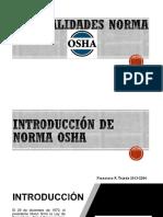 Generalidades Norma OSHA