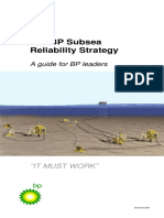 BP Subsea Realiability Strategy